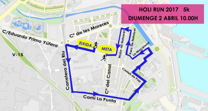 Carrera Holi Run pel barri de Natzaret