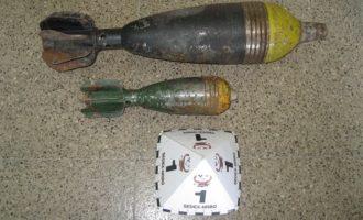 La Guardia Civil destruye dos granadas que un ciudadano encontró en un polígono de Corbera de Alzira