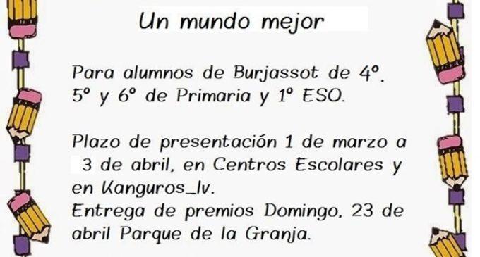 L'entitat social Kanguros_LV convoca el seu II Concurs de Contes Breus per a escolars de Burjassot