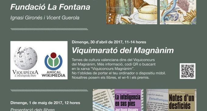 Novetats editorials, presentacions i una 'ViquiMarató' en l'agenda del Magnànim per a la Fira del Llibre