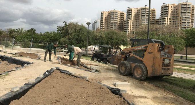 Rehabilitació del roserar del Jardins del Túria