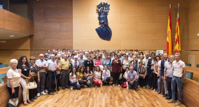 Un centenar de veïns de Beniatjar i Cotes visiten la Diputació de València