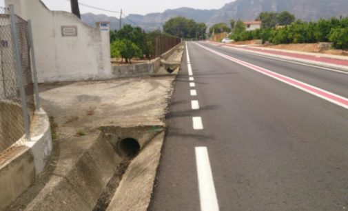 La Diputación destina 200.000 euros a completar la actuación de mejora de seguridad vial del tramo III de la CV-675 entre Gandia y Barx
