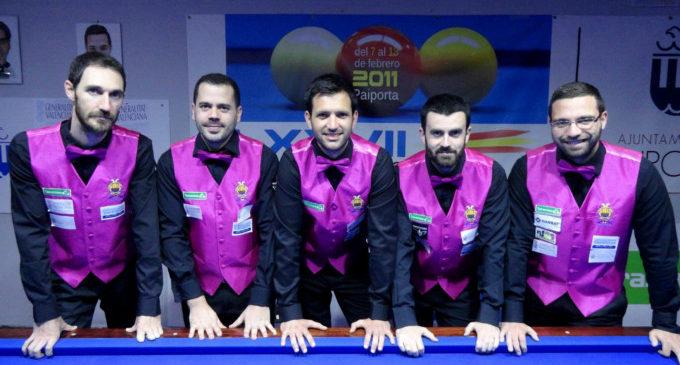 El Club Billar Paiporta es proclama campió de la Lliga Nacional