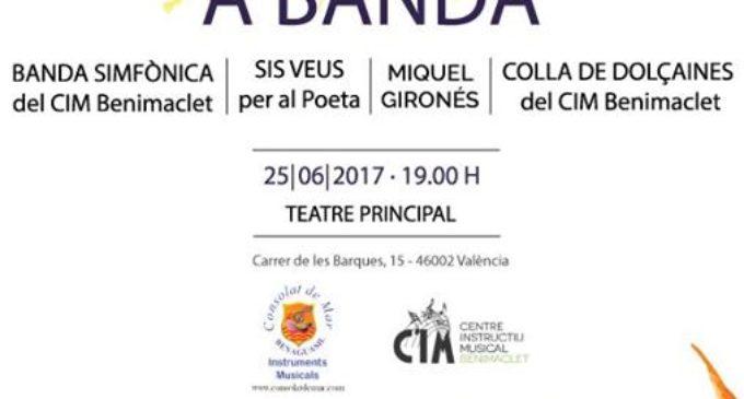 L'adaptació per a banda i dolçaina de l'espectacle 'Sis veus per al poeta' arriba diumenge al Teatre Principal