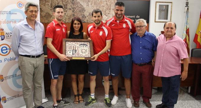 L'Ajuntament de la Pobla homenatja el Vallbonense per l'ascens