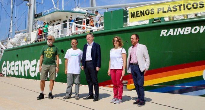 Puig destaca la labor de conscienciació de Greenpeace en la societat