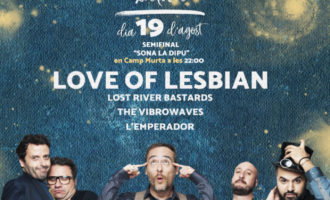 Love of Lesbian acompanyarà a L'Emperador, Lost River Bastards i The Vibrowaves en la tercera semifinal del Sona la Dipu