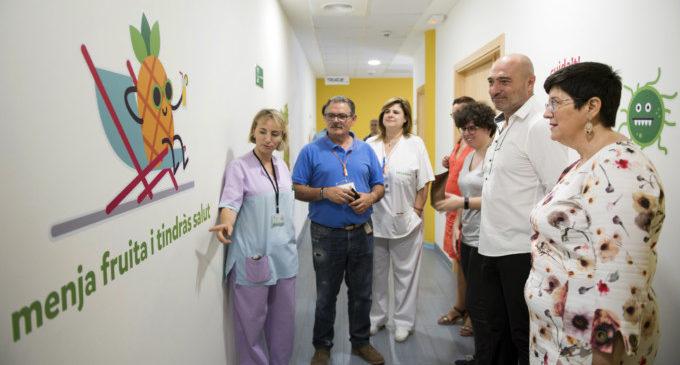 Els hàbits saludables més 'riallers' s'instal·len a les plantes de pediatria de l'Hospital General