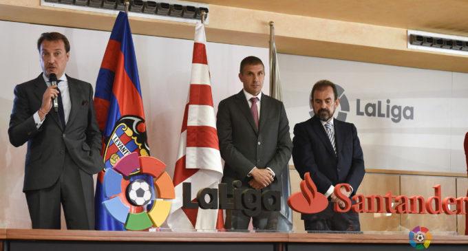 El Llevant UD assisteix a l'acte de benvinguda de LaLiga als clubs ascendits a LaLiga Santander