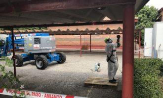 Comença la retirada de la coberta de fibrociment del CEIP José MªBoquera