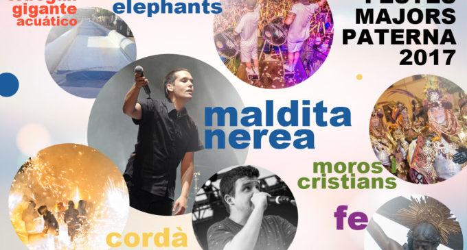 Maldita Nerea, Space Elephants i un tobogan gegant aquàtic, a les Festes Majors de Paterna