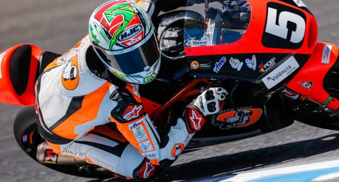 Jaume Masià al mundial de Moto3 2018 amb Platinium Bay Real Estigues i KTM