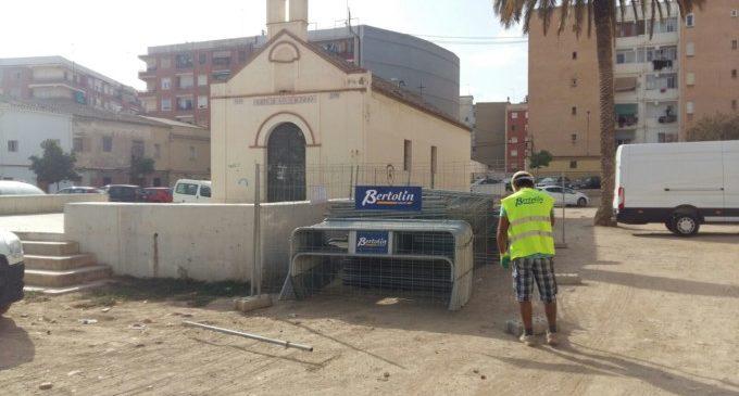 La zona de l'ermita d'Orriols es tanca a l'aparcament en 72 hores amb motiu de les obres