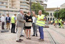 Salvador destaca la incorporación de un sistema automático para la reducción de ruidos al paso de los tranvías en Pont de Fusta