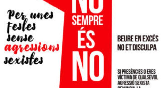 Paiporta llança una campanya de conscienciació contra les agressions sexistes en les Festes Populars 2017