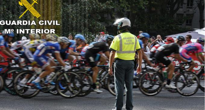 La Guàrdia Civil estableix un dispositiu de seguretat per a la Tornada Ciclista a Espanya al seu pas per la província de València