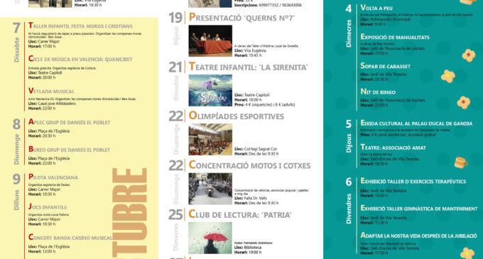 L'agenda d'octubre arriba marcada per la Setmana dels Majors, el 9 d'octubre i el festival Catacumba