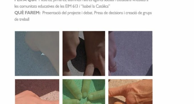 """Educació presenta el projecte de participació escolar """"Creant Escola. Mosaics Vius"""""""