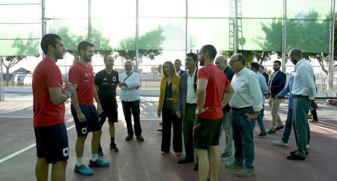 El president de la Diputació de València visità les noves infraestructures del poliesportiu municipal de Museros.