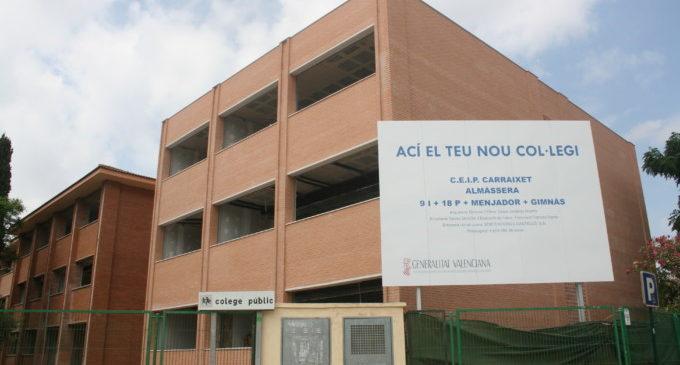 Les obres del col·legi públic Carraixet d'Almàssera es reprendran a principis de 2018