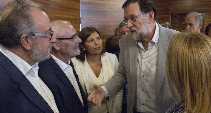 L'alcalde d'Alboraia, Miguel Chavarría, rep al President del Govern