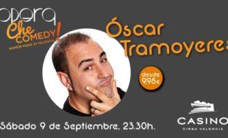 Óscar Tramoyeres, humor de 'l'horta' en el cicle 'Ché comedy' d'Òpera i Casino Cirsa