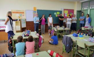 El CEIP Cervantes dona la benvinguda a un nou curs amb la presència de l'alcalde d'Alboraia