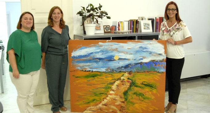 Godella lliura a la Diputació la pintura de Ferriol realitzada amb motiu de l'Any Pinazo
