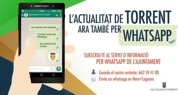 L'Ajuntament de Torrent estrena l'envio d'informació per Whatsapp