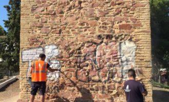 L'Ajuntament del Puig elimina les pintades de l'ermita de Santa Bàrbera
