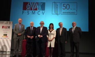 L'Ajuntament de Llíria rep el Premi Euterpe de la Federació de Societats Musicals