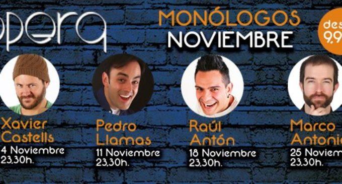 Raúl Antón torna a Casino Cirsa València en els monòlegs d'Òpera de novembre