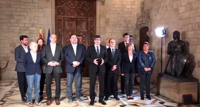Esta és la declaració signada pel Govern de Catalunya