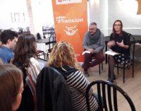Maria Josep Amigó i Juanma Ramón presenten la campanya #TracteJust i animen a participar en la manifestació del 18N