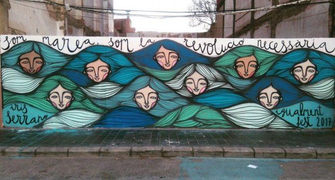 Art al Cabanyal amb 'Un mar de dones'