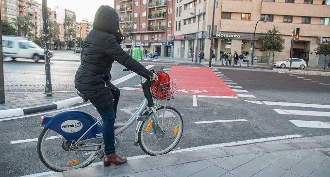 València estrenarà els primers carrils bus-bici compartits