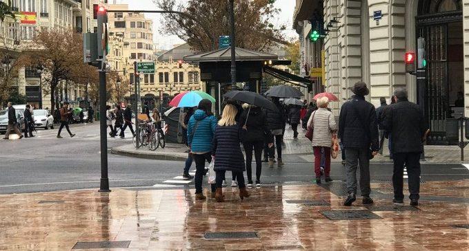 Arriba de nou la pluja a València