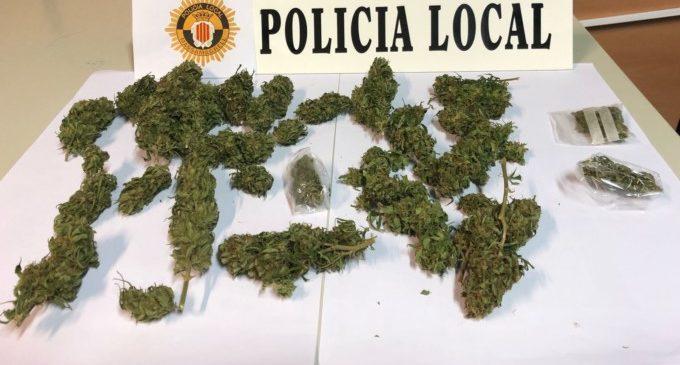 La Policia Local de Massamagrell intercepta 88 grams de marihuana