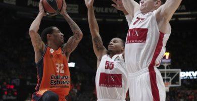 El Valencia Basket entrega el partido en los últimos compases (98-103)