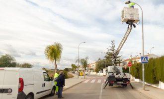 El Puig mejora la iluminación de Ciudad Jardín