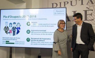 La Diputació invertirà 531.340 euros a la Vall d'Albaida per a donar treball a persones majors de 55 anys