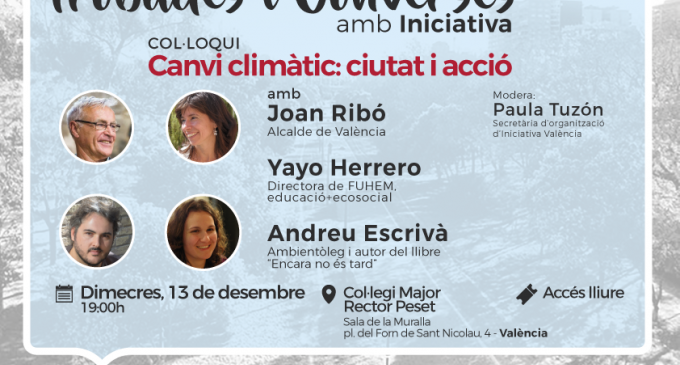 'Canvi climàtic: ciutat i acció' nou debat de les Trobades i Converses amb Iniciativa