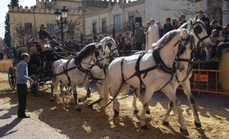La Plaça dels Furs de Burjassot acull la tradicional benedicció d'animals per a celebrar la Festivitat de Sant Antonio Abad