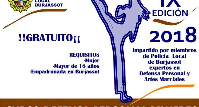 Arranca al febrer l'IX curs gratuït de Defensa Personal per a dones a Burjassot