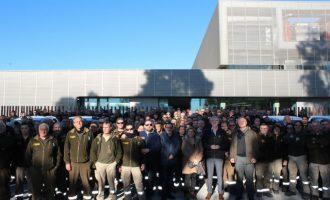 El Multiusos de Llíria rep la trobada de brigadistes forestals de la Diputació de València