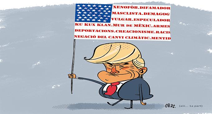 """Trump i els seus afectuosos """"països"""""""