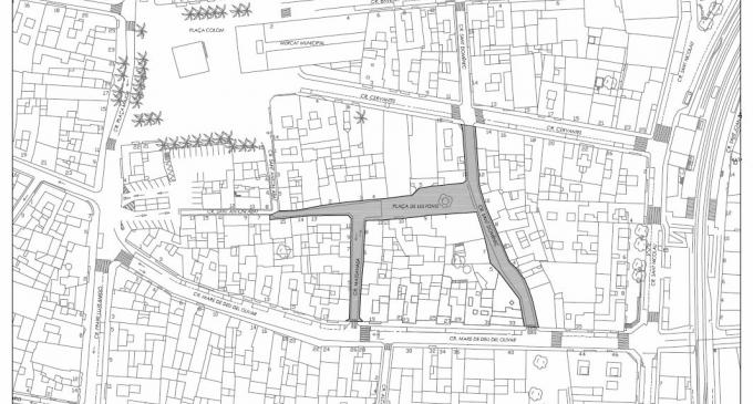 Torrent reurbanitzarà la plaça de les Fonts i els seus carrers adjacents