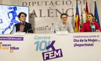 La Diputació presenta la IV edició de la 10KFem amb un circuit més urbà i activitats per a xiquets i famílies