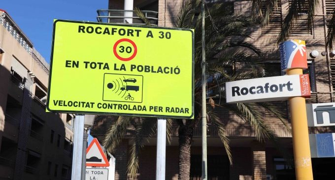 "Rocafort ja és un poble més ""amable"" a 30 km/h"